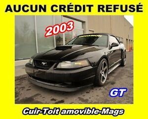 2003 Ford Mustang GT Deluxe Cuir Toit amovible Mags