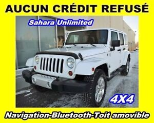 2013 Jeep WRANGLER UNLIMITED SAHARA 4X4 BLUETOOTH TOIT AMOVIBLE