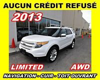 2013 Ford Explorer Limited**GPS, Toit pano, Cuir, Park assist**