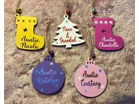 Personalised Tree Decorations