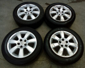 VAUXHALL ASTRA ALLOYS WITH TYRES 205 / 55 / 16