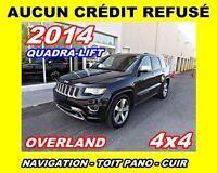 2014 Jeep Grand Cherokee *Overland*Nav,Cuir,Toit pano*AUCUN CRED