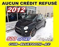 2012 Fiat 500 AUCUN CRÉDIT REFUSÉ**Sport**Cuir, Mags, Tout équip