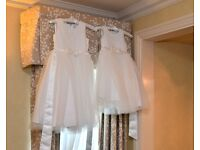 2x stunning flower girl dresses for sale dry cleaned and like new