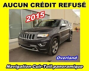 2015 Jeep Grand Cherokee OVERLAND * GPS * TOIT PANORAMIQUE * CUI