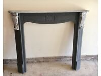 Painted solid wood mantle / fire surround