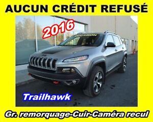 2016 Jeep Cherokee Trailhawk**4X4**3.2L**CUIR**CAMÉRA RECUL