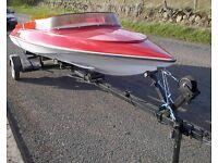 Sims super V - 14 ft Speedboat with trailer after complete renovation - MAKE OFFER