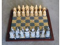 Supercast Stone Cast Imperial Chinese Chess Set.