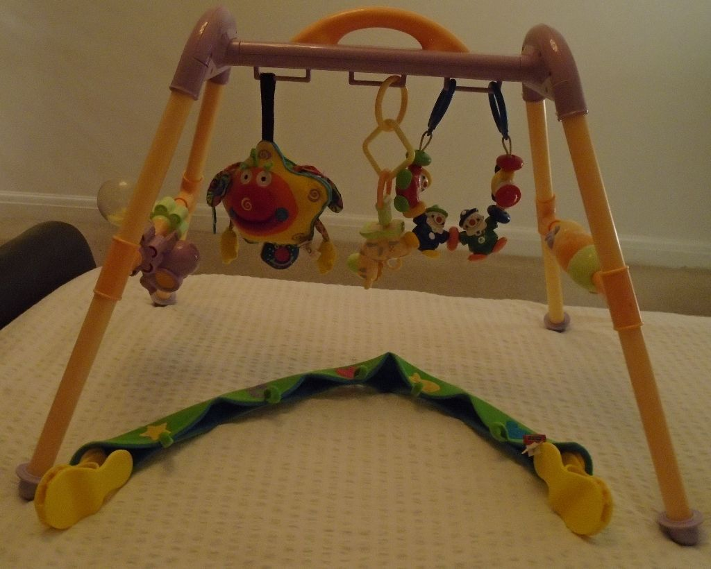 Baby activity frame (goes over changing mat), pram toys, Tiny Love ...