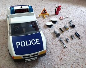 Playmobil Police Car & Motorbike - very good condition