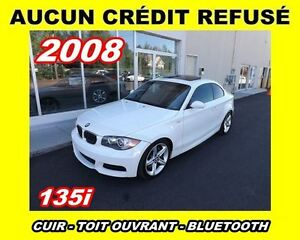 2008 BMW 135 **Cuir, Toit ouvrant, Mags**