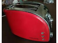 Red toaster Morphy Richards