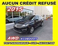 2015 Lincoln MKC **AWD, Navigation, Toit panoramique, Cuir**