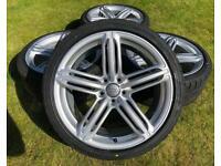 """AUDI 19"""" A5 SEGMENT ALLOYS & NEW TYRES VAG 5x112 VW AUDI ALLOY WHEELS"""