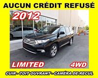 2012 Toyota Highlander **Limited**Cuir, Toit ouvrant**Aucun Cred