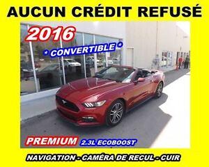 2016 Ford Mustang **Premium**Navigation, Cuir**Aucun Credit Refu