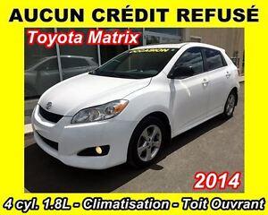 2014 Toyota Matrix **AUCUN CRÉDIT REFUSÉ**