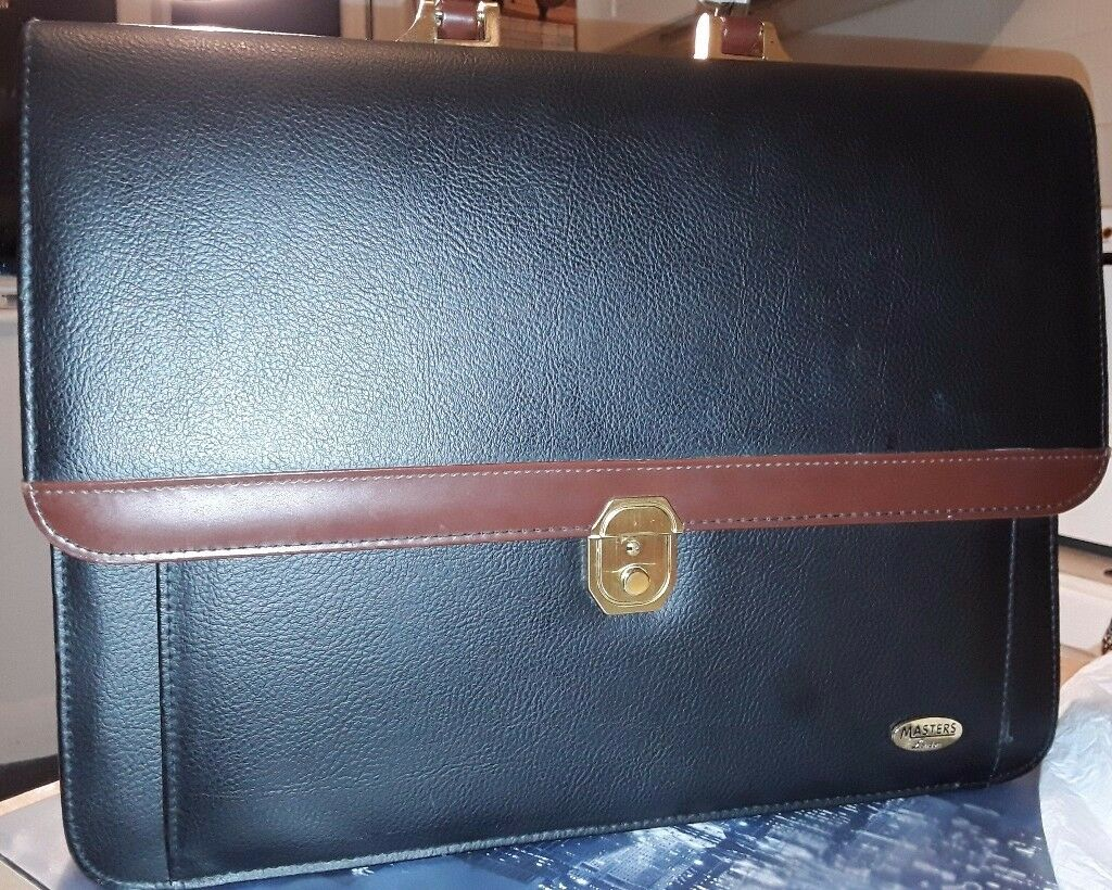 Executive Smart Briefcase Bonded Leather by Masters London - Very good conditions