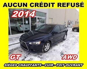 2014 Mitsubishi Lancer GT *AWD*cuir, toit ouvrant*