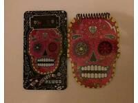 Sugar skull note pad and coloured pencil set