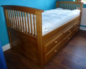 Single Bed Frame Solid Painted Pine In Lincoln Lincolnshire