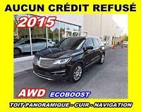 2015 Lincoln MKC AUCUN CRÉDIT REFUSÉ**AWD, Nav,Toit pano Cuir**
