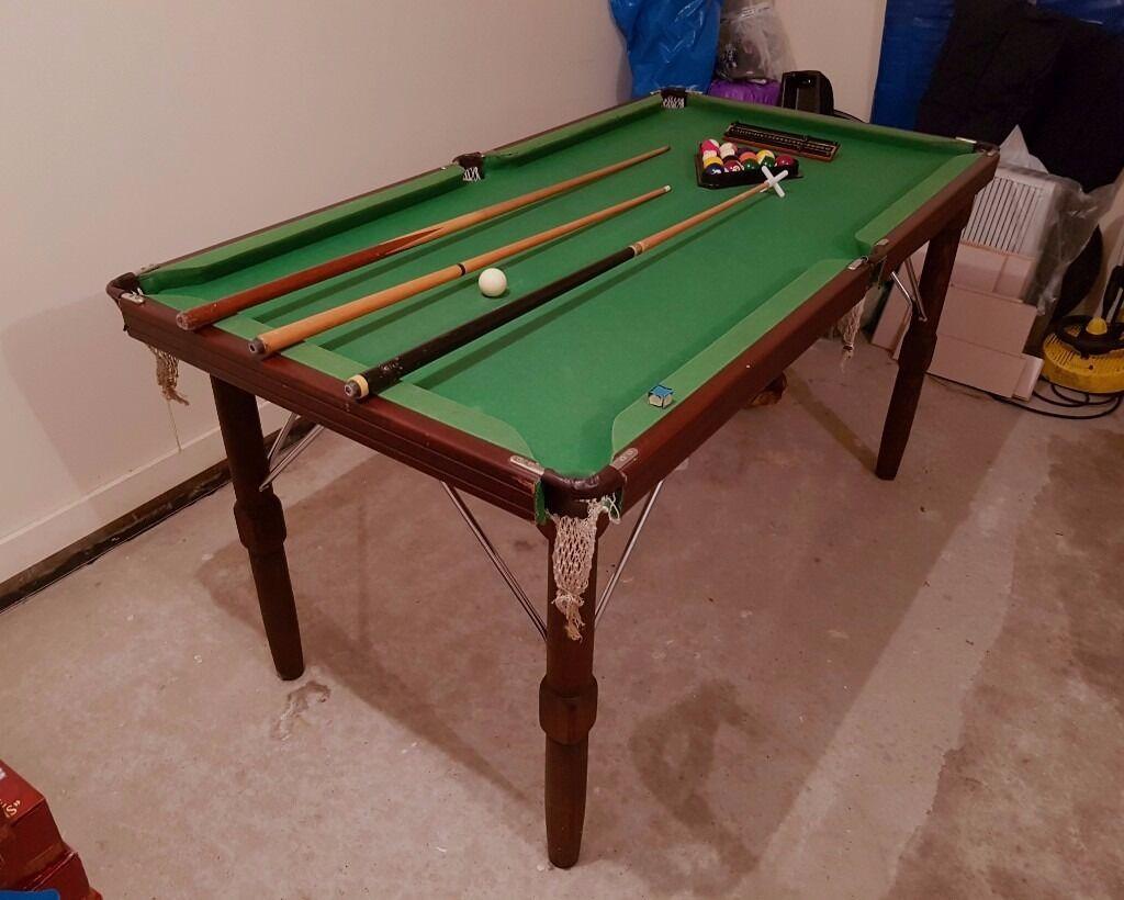 Charmant 6 Foot Slate Bed Pool Table (6u00273u201d X 3u00273u201d