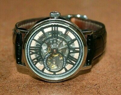 Stuhrling Original SS Men's Automatic Skeleton Watch Cal. ST-90050 [069WEI]