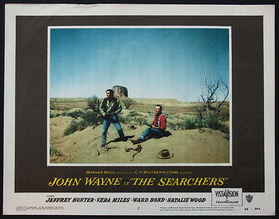 THE SEARCHERS JOHN WAYNE JEFFREY HUNTER MONUMENT VALLEY 1956 LOBBY CARD #7