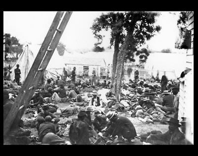 Wounded Union Field Hospital PHOTO, Civil War Dead Dying 1862 SAVAGE STATION VA