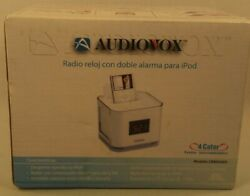 Dual Alarm Clock Radio Dock iPod/iPhone NIB Audiovox Venturer CR8030iE5 4-Colors