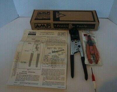 Amp Precision Tools Hand Crimp Tool 90312-1 W Box Manual Wire Stripper Box