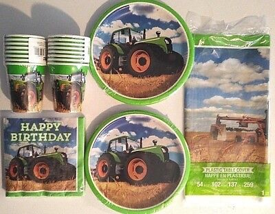 TRACTOR TIME John Deere Style HAPPY Birthday Party Supply Dinner Plate Kit](John Deere Birthday Party Supplies)