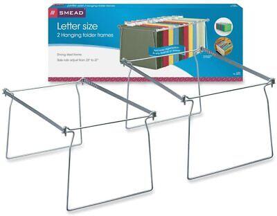Steel Hanging File Folder Frame Letter Size Gray 2 Per Pack