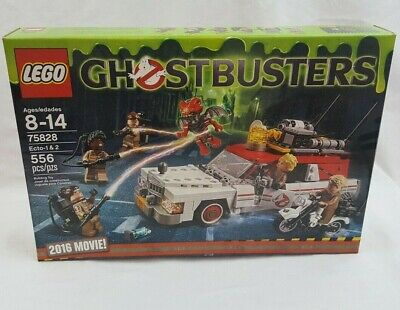 2016 LEGO Ghostbusters Movie 75828 - Ecto-1 & 2  with 6 Minifigures - Retired