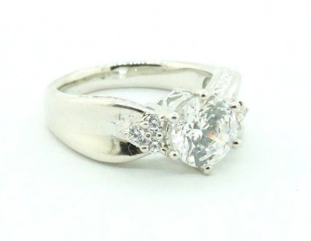Women s Sterling Silver MEDA CZ Engagement Cocktail Heart Promise Ring 21053 - $35.99