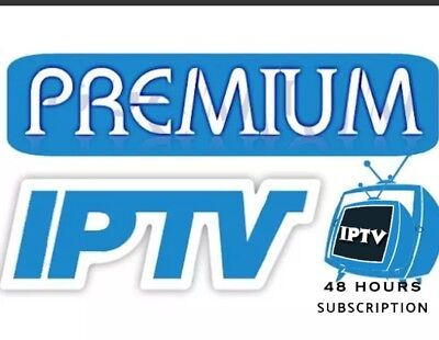 48 HOURS IPTV SUBSCRIPTION 18000+ WORLDWIDE TV CH&VOD.USA,EUROPE,CANADA,LATINO..