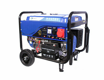 Generador Electrico de Gasolina Trifasico/Monofasico 5,5Kw Motor 100% Cobre 4T