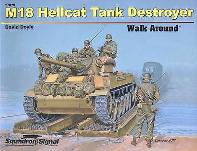 SQUADRON SIGNAL WALK AROUND M18 HELLCAT TANK DESTROYER WW2 US ARMY 76mm GUN MINT