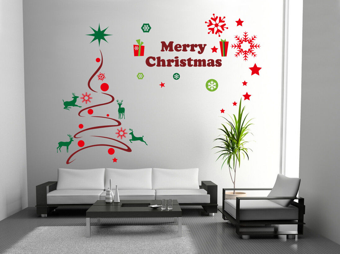 Hand carving merry christmas tree gift xmas vinyl wall stickers hand carving merry christmas tree gift xmas vinyl wall stickers wall uk rui26 amipublicfo Images