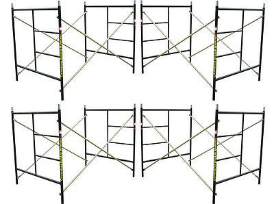 "CBM Scaffold 4 Set of Flip Lock 5' X 5'1"" X 7' Masonry Scaffolding Frame Sets"