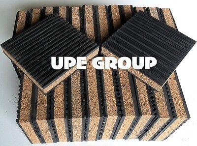 New 24 Pack Floor Anti Vibration Pads Isolation Pad 4 X 4 X 78 Cork Center
