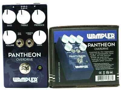 used Wampler Pantheon Overdrive, Mint Condition with Box!