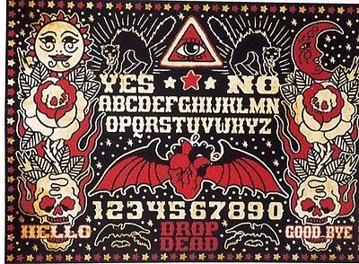 Ouija Board Sticker/Decal Spirit Board Sun Moon Skulls Color New