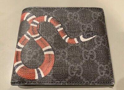Gucci Black Snake Wallet, GG Black Canvas Card Holder, Supreme
