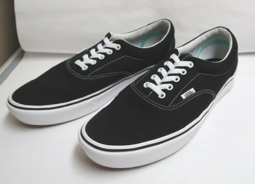 Vans ComfyCush Era Black/True White Canvas Skate Shoes M-12.0/W-13.5 NWOB