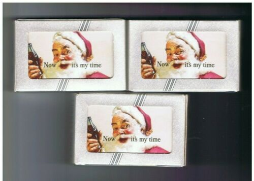 """3 packs of sealed """"Now is my Time"""" Coca-Cola playing cards"""