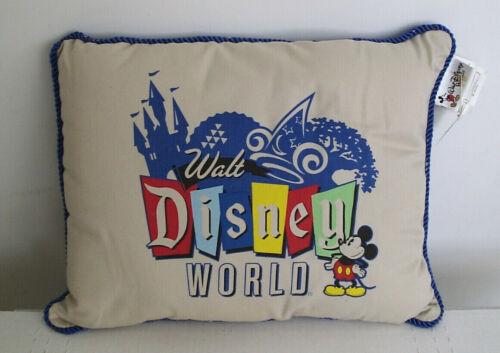NEW* Walt Disney World Accent Pillow * 4 Parks Artwork * Brand New W/Tags