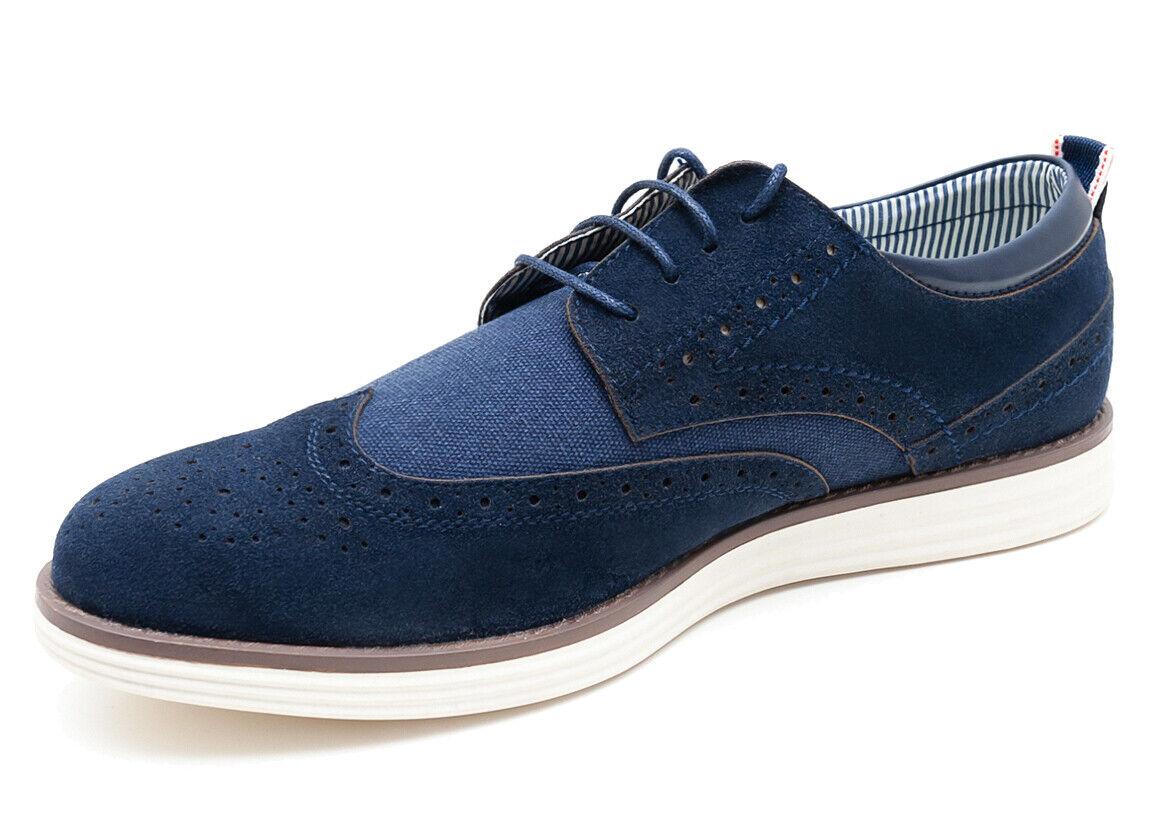 Scarpe francesine uomo Class blu calzature scamosciate casual eleganti 42  43 45 b73a27cae83